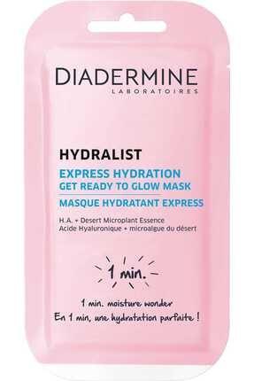 Diadermine Hydralist Express Hydration Get Ready To Glow 8 ml Nemlendirici Maske -3178041332842