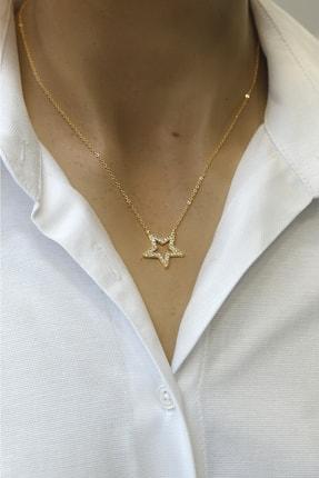Marjin Kadın Zirkon Taşlı Yıldız Figürlü Altın Renkli Kolyealtın