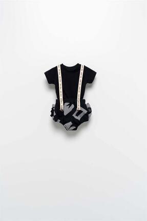 Moi Noi Moinoi Askılı Siyah Takım Miniropa