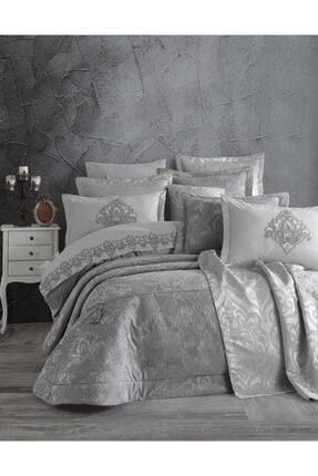 Elart Rita Gümüş Çift Kişilik Yatak Örtüsü