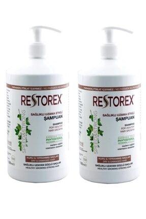 Restorex 2 Adet Şampuan Kuru Ve Yıpranmış Saçlar 1000 ml Sağlıklı Uzama Etkili