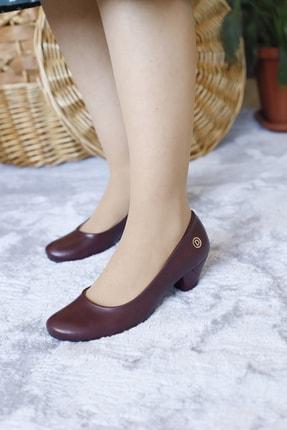 Demirtaş Demırtas Kadın Bordo Renk Yumurta Topuklu Ayakkabı