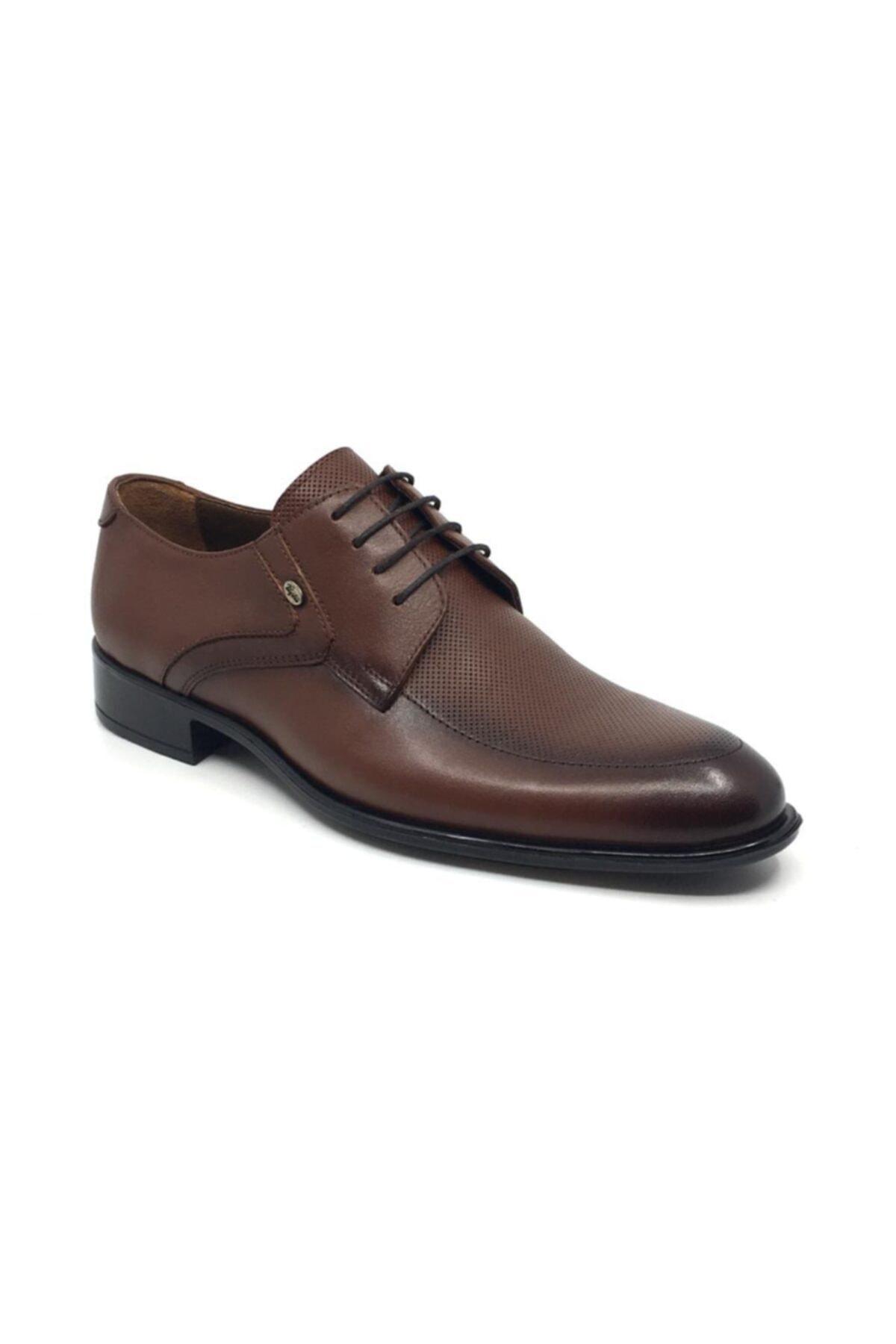 Taşpınar Erkek Kahverengi Bağcıklı Klasik Yazlık Ayakkabı 1