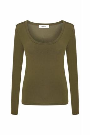 İpekyol Kadın Kahverengi Geniş Yaka Basic Bluz IW6200070050