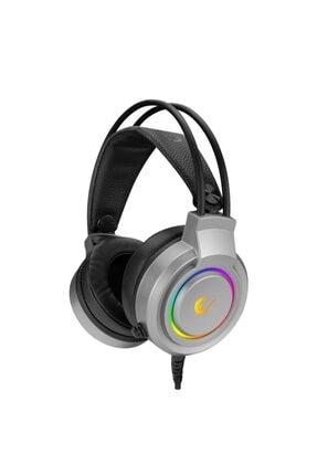 Rampage Rm-x5 Airs Usb Gaming Kafa Bantlı Gri Cmedia 100b Chipset Rainbow Mikrofonlu Kulaklık