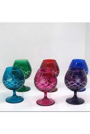 Paşabahçe Renkli Kesme Desenli Kahve Yanı Su Bardağı