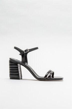 Elle Shoes Siyah Kadın Sandalet