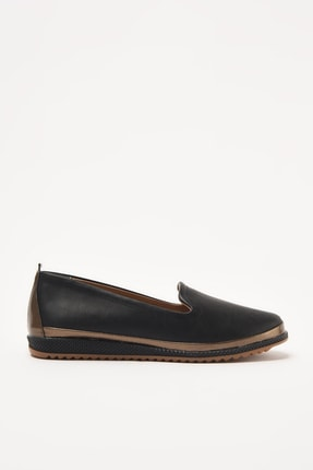 Yaya  by Hotiç Siyah Kadın Loafer Ayakkabı 01AYY208950A100