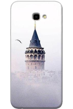 Turkiyecepaksesuar Samsung Galaxy J4 Plus Uyumlu Kılıf + Temperli Ekran Koruyucu Cam
