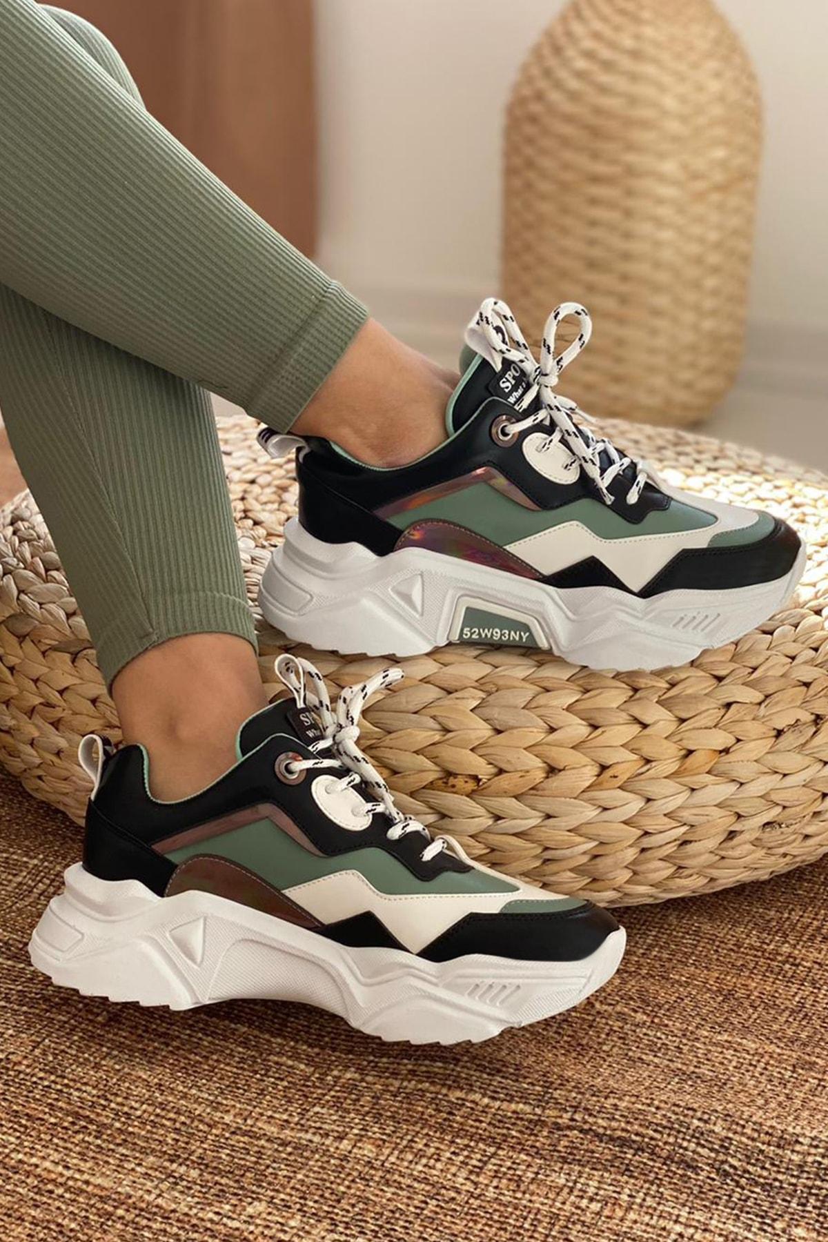 DARK SEER Kadın Siyah Beyaz Sneaker 1