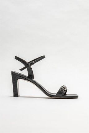 Elle Shoes Kadın Siyah Topuklu Sandalet Ayakkabı