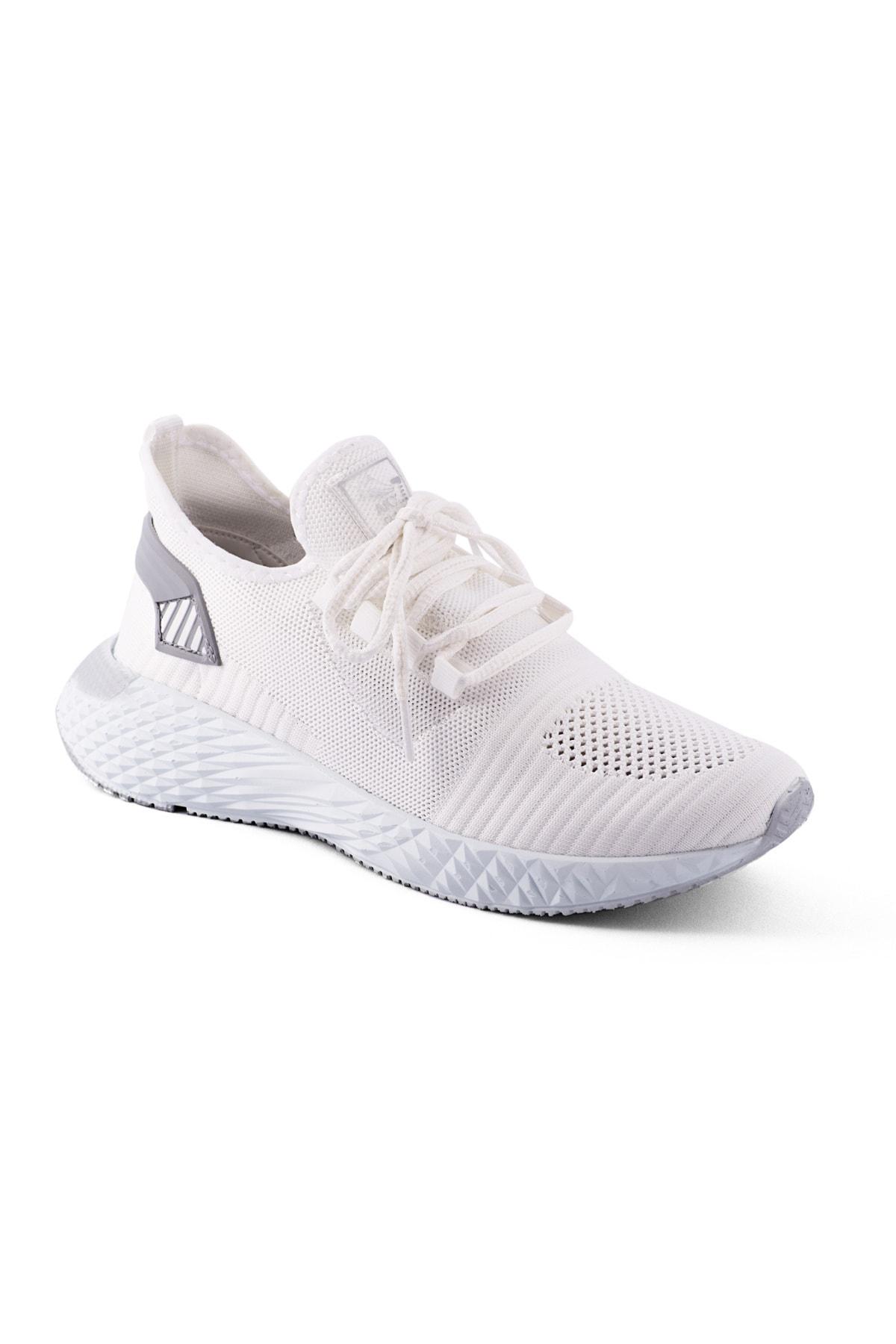 AKX 7 132 Beyaz Renk Beyaz Taban Erkek Spor Ayakkabı 1