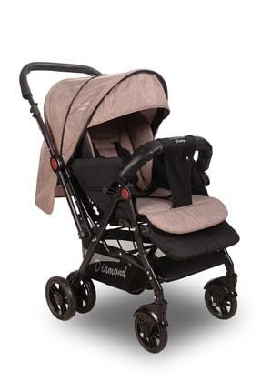 Diamond Baby Kahverengi Sapphire Çift Yönlü Bebek Arabası