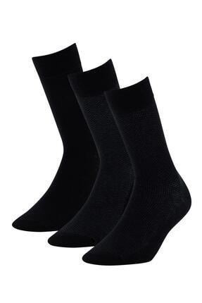 DeFacto Erkek Siyah Soket Çorap 3'lü