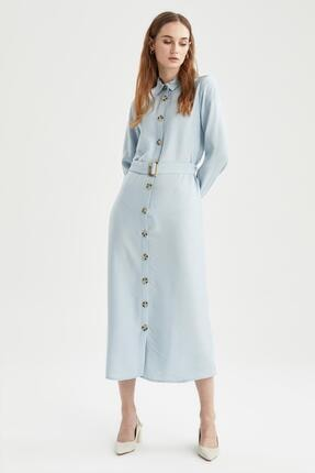 DeFacto Gömlek Yaka Relax Fit Elbise