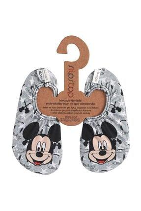 SLIPSTOP Disney Mickey Unisex Çocuk Gri Deniz Ayakkabısı