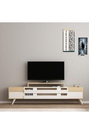 ARNETTİ Miranda Tv Ünitesi Yaşam Odası, Salon, Ve Oturma Odası, Tv Sehpası Beyaz-safirmeşe