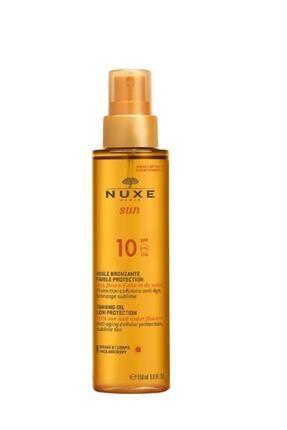 Nuxe Sun Güneş Bronzlaştırıcı Yüz Ve Vücut Yağı Spf 10 150ml + Saç, Vücut Sampuanı Hediye150 ml