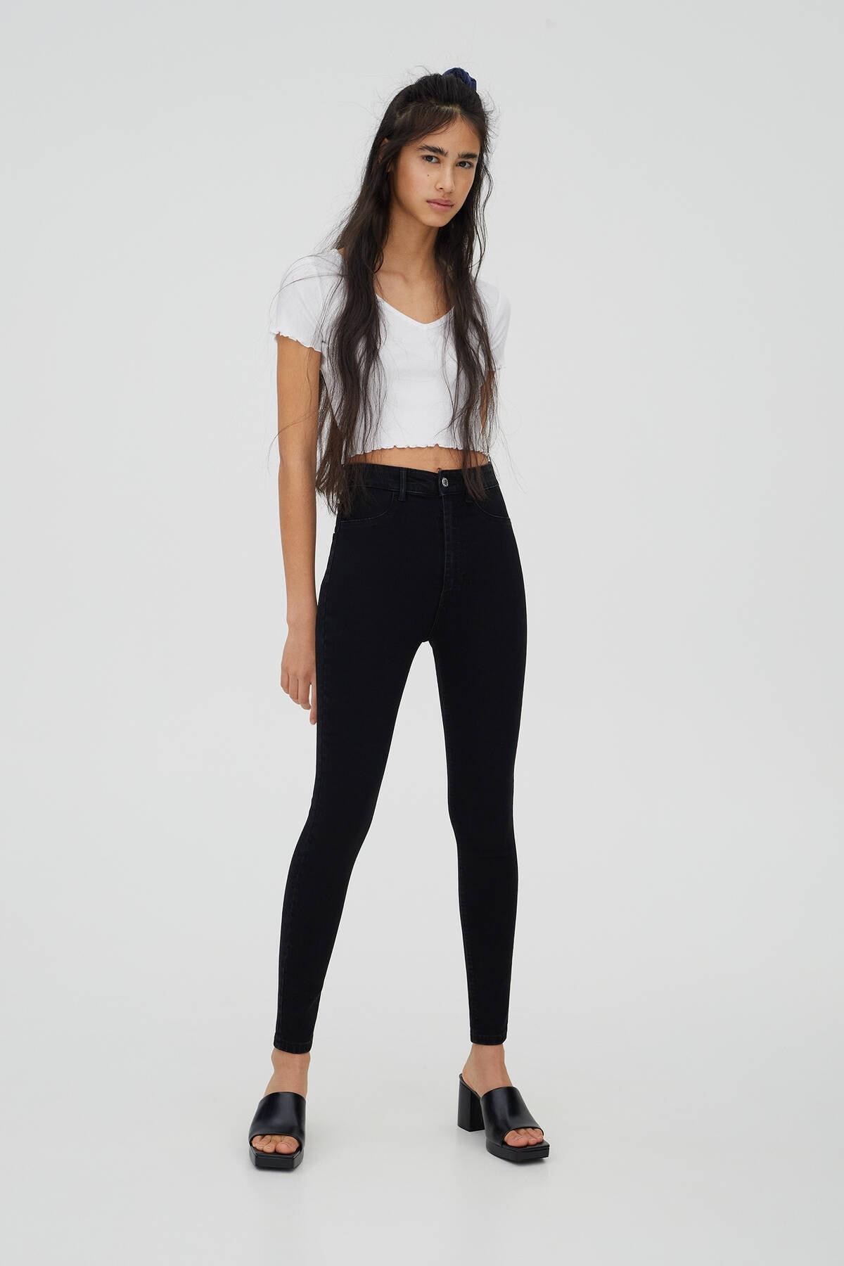 Pull & Bear Kadın Siyah Jeans 1