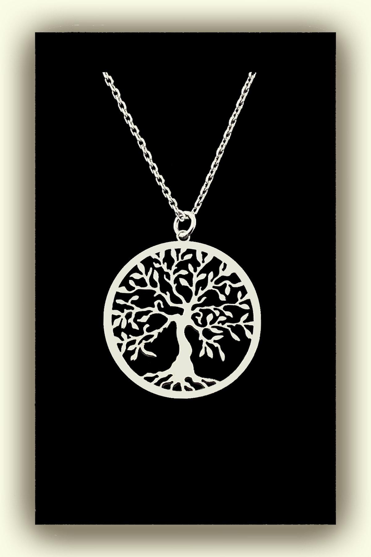 jewelry by roxx Gümüş Hayat Ağacı Kadın Kolye 1