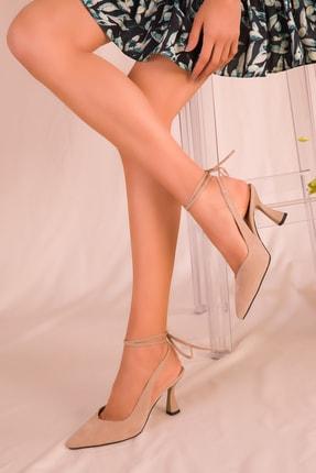 SOHO Ten Süet Kadın Klasik Topuklu Ayakkabı 15776