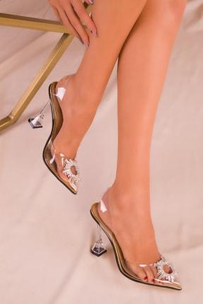 SOHO Altın Kadın Klasik Topuklu Ayakkabı 15975