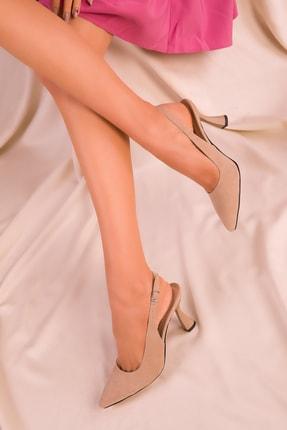 SOHO Ten Süet Kadın Klasik Topuklu Ayakkabı 15982