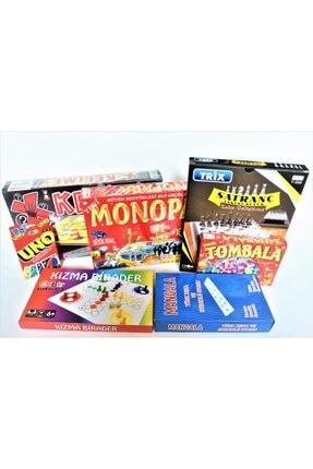ibis oyuncak Tombala + Kızma Birader + Mangala+ Kelime Oyunu + Uno + Satranç + Monopara 7'li Set Kutu Oyunu