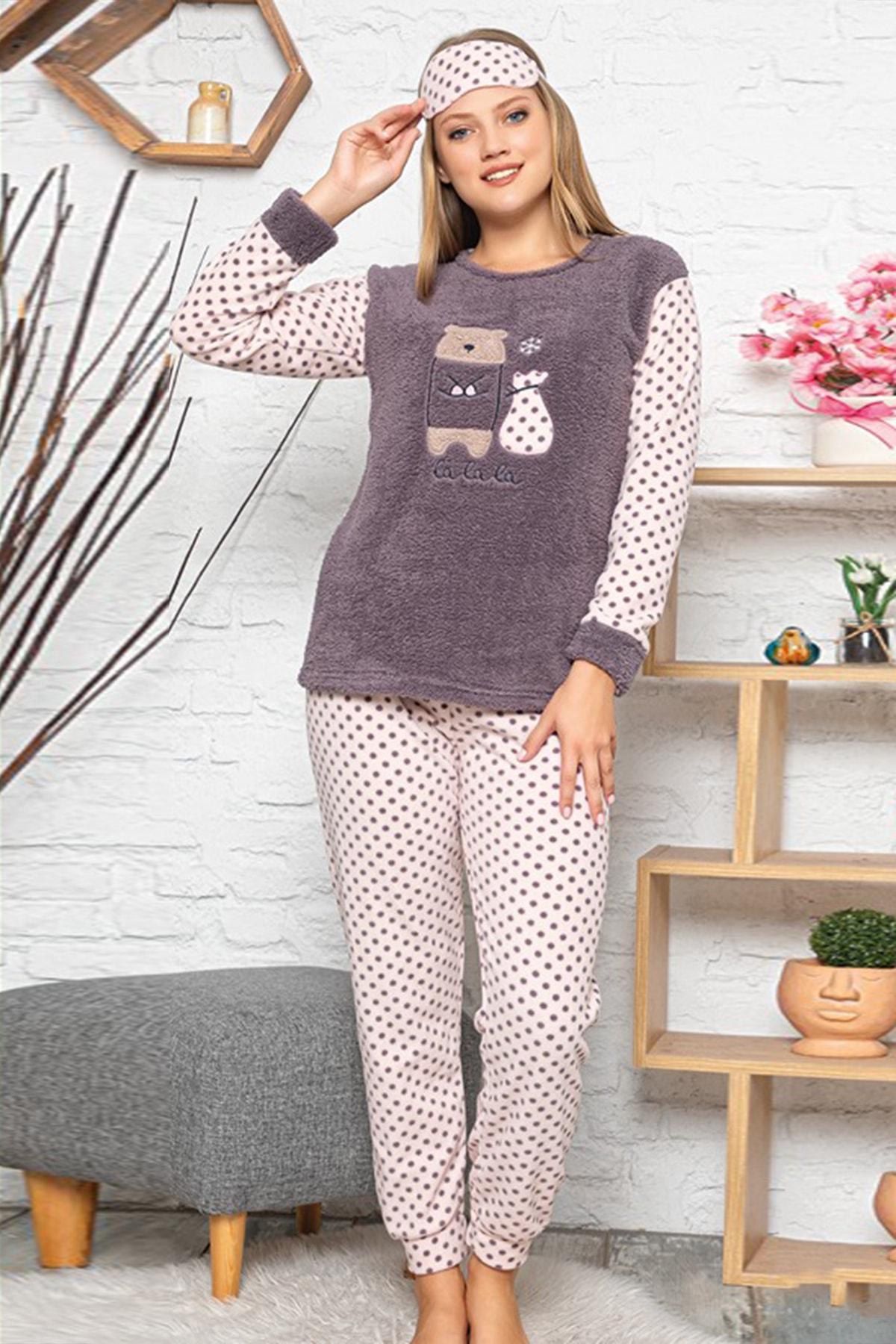 Kompedan Kadın Gri  Pijama Takımı 1