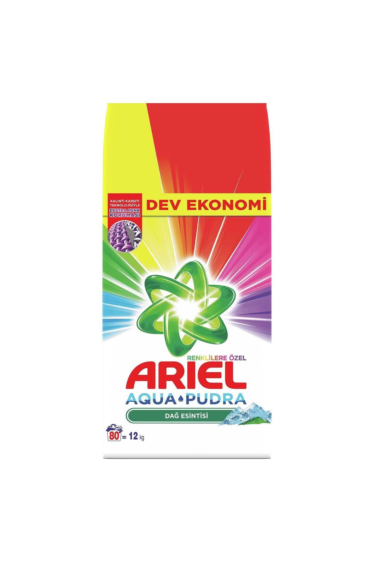 Ariel 12 kg Toz Çamaşır Deterjanı Dağ Esintisi Renkliler İçin 2