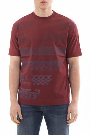 Emporio Armani Erkek Bordo Kısa Kollu T-shirt
