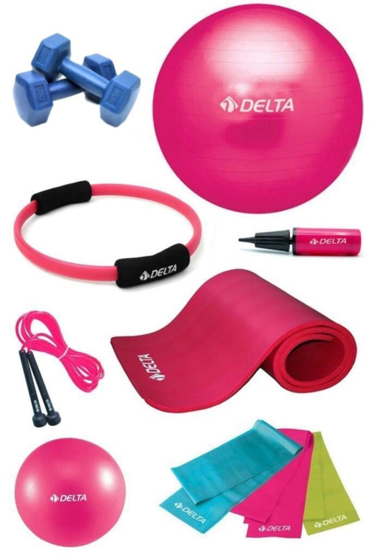 Delta 10 mm Deluxe Minderli 75 cm PFS Full Pilates Seti 1