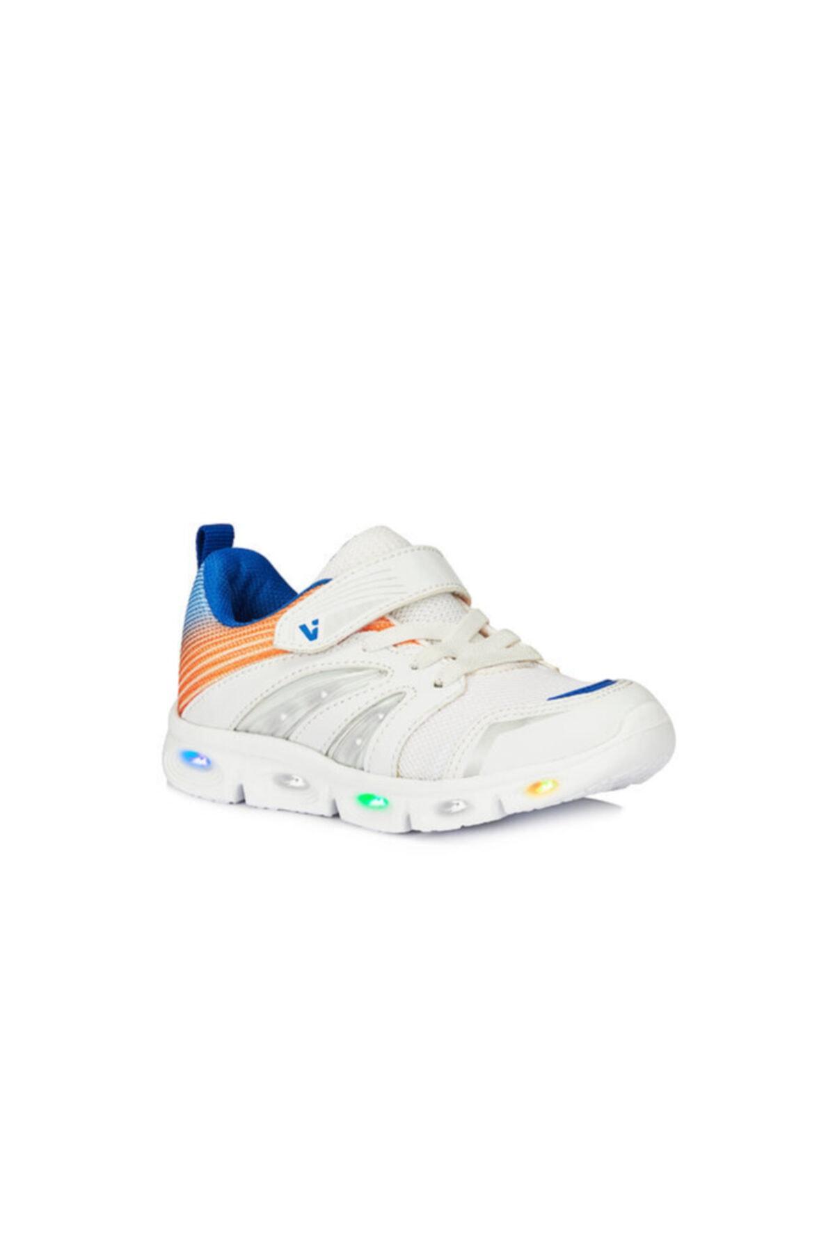 Vicco Samba Unisex Çocuk Işıklı Beyaz Spor Ayakkabı 1