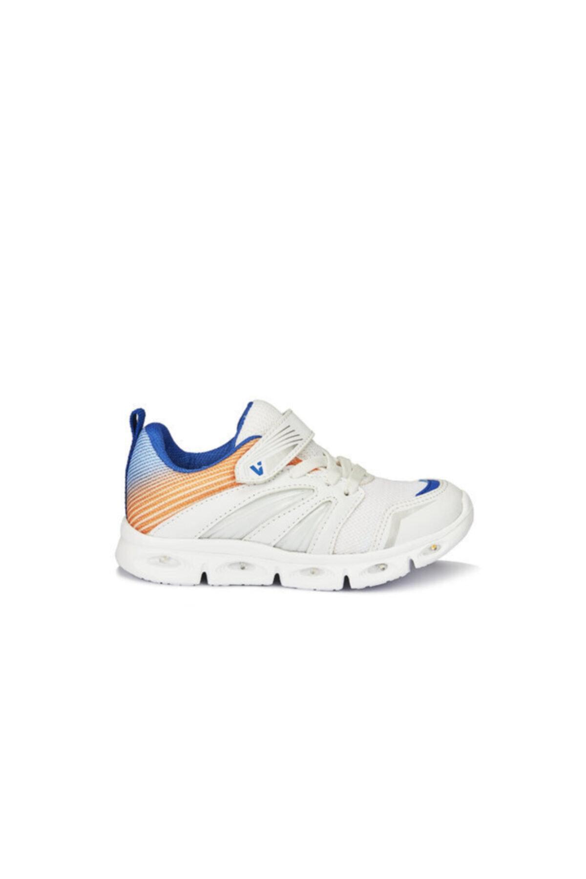 Vicco Samba Unisex Çocuk Işıklı Beyaz Spor Ayakkabı 2