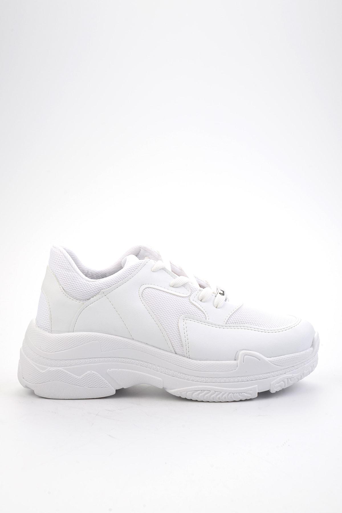 Bambi Beyaz Kadın Sneaker K01836001009