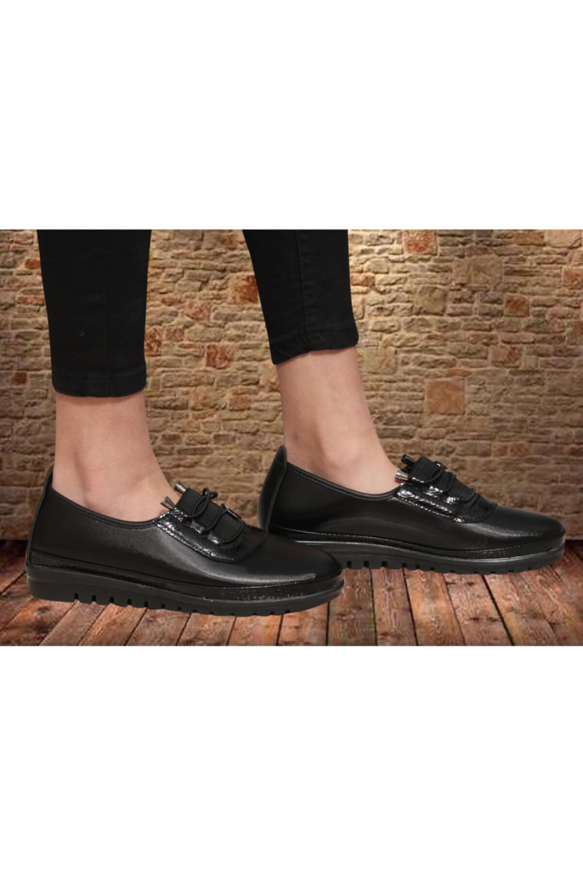 Witty Kadın Günlük Siyah Ortopedik Babet Ayakkabı 2