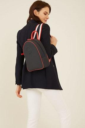 U.S. Polo Assn. Lacıvert-kırmızı Kadın Sırt Çantası Us8206