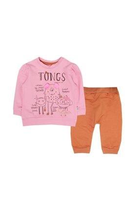 Tongs Baby Unisex Pembe Bebe Takım 2li