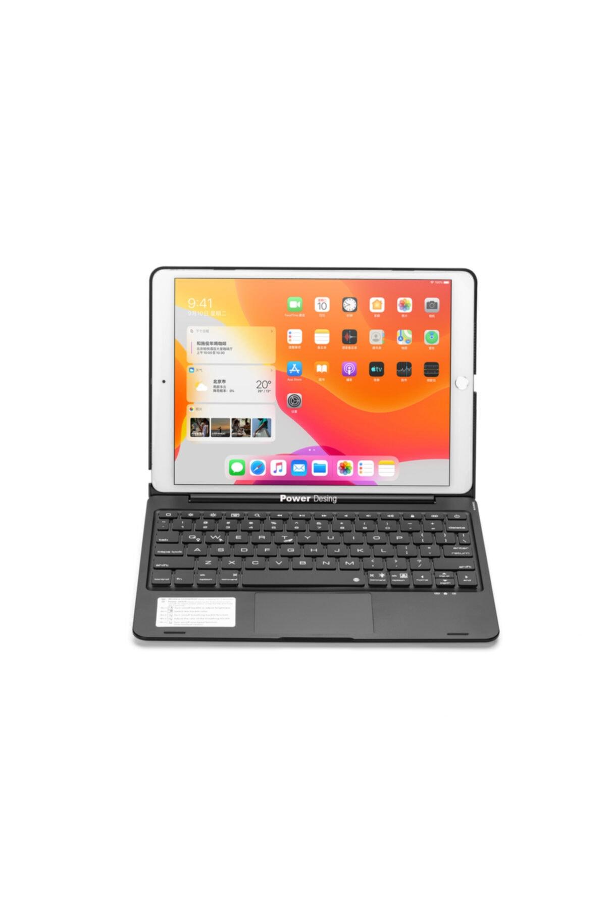 POWER DESİGN Klavyeli Kılıf Apple Ipad 7.ve 8.nesil (10.2İNÇ) Için Mouse Ve Işıklı Tuşlar Türkçe Klavye 2