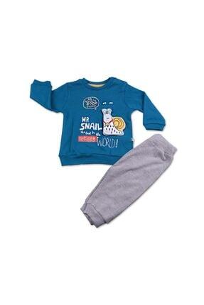 Mymio Unisex Mavi Salyangoz 2li Bebe Takım
