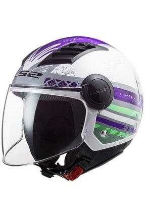 LS2 Kadın Mor Aırflow Açık Motosiklet Kaskı Of562
