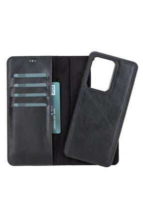 PLM Mw Kişiselleştirilebilir Deri Telefon Kılıfı Samsung S20 Ultra Rst1 Siyah