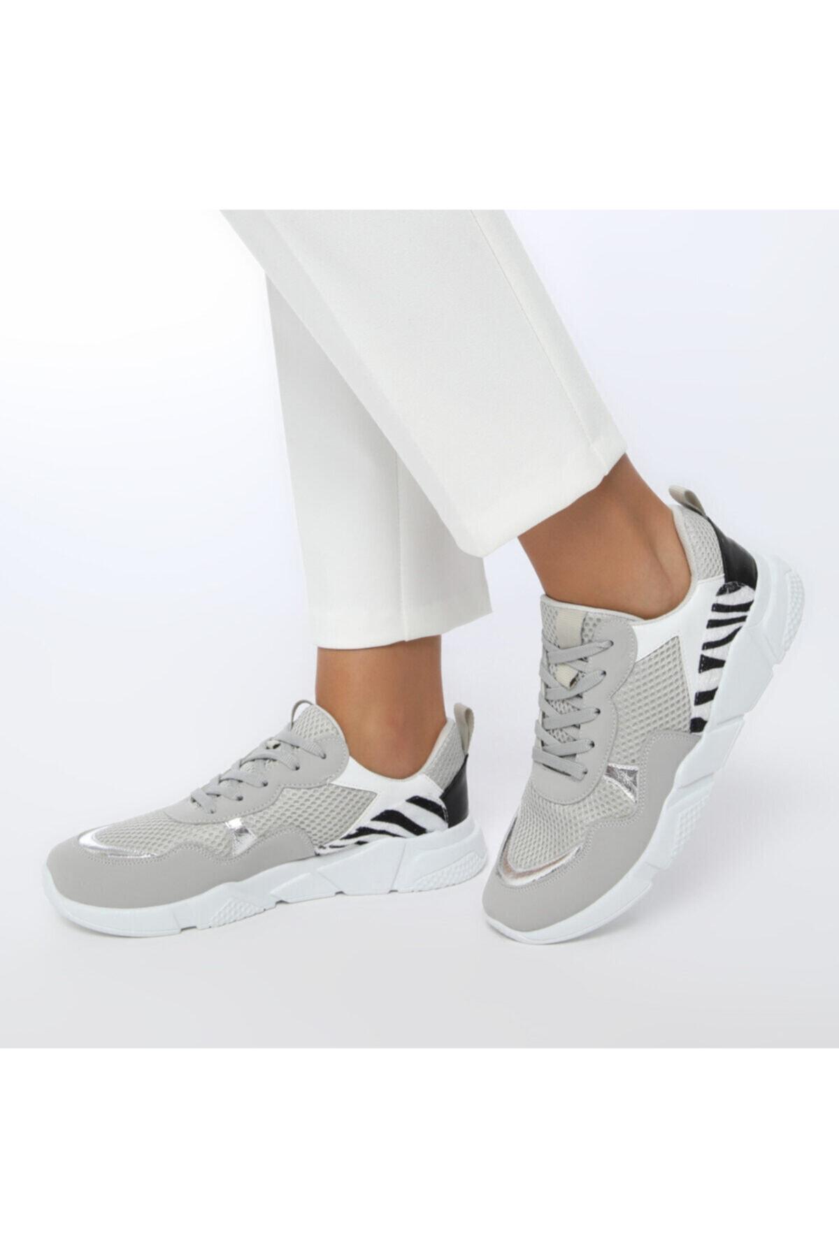 Butigo 20SF-2001 Gri Kadın Sneaker Ayakkabı 100530776 1