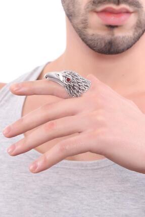 LABALABA Erkek Antik Gümüş Kaplama Kartal Yüzük