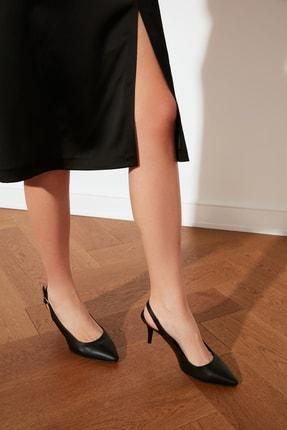 TRENDYOLMİLLA Siyah Kadın Klasik Topuklu Ayakkabı TAKSS21TO0024