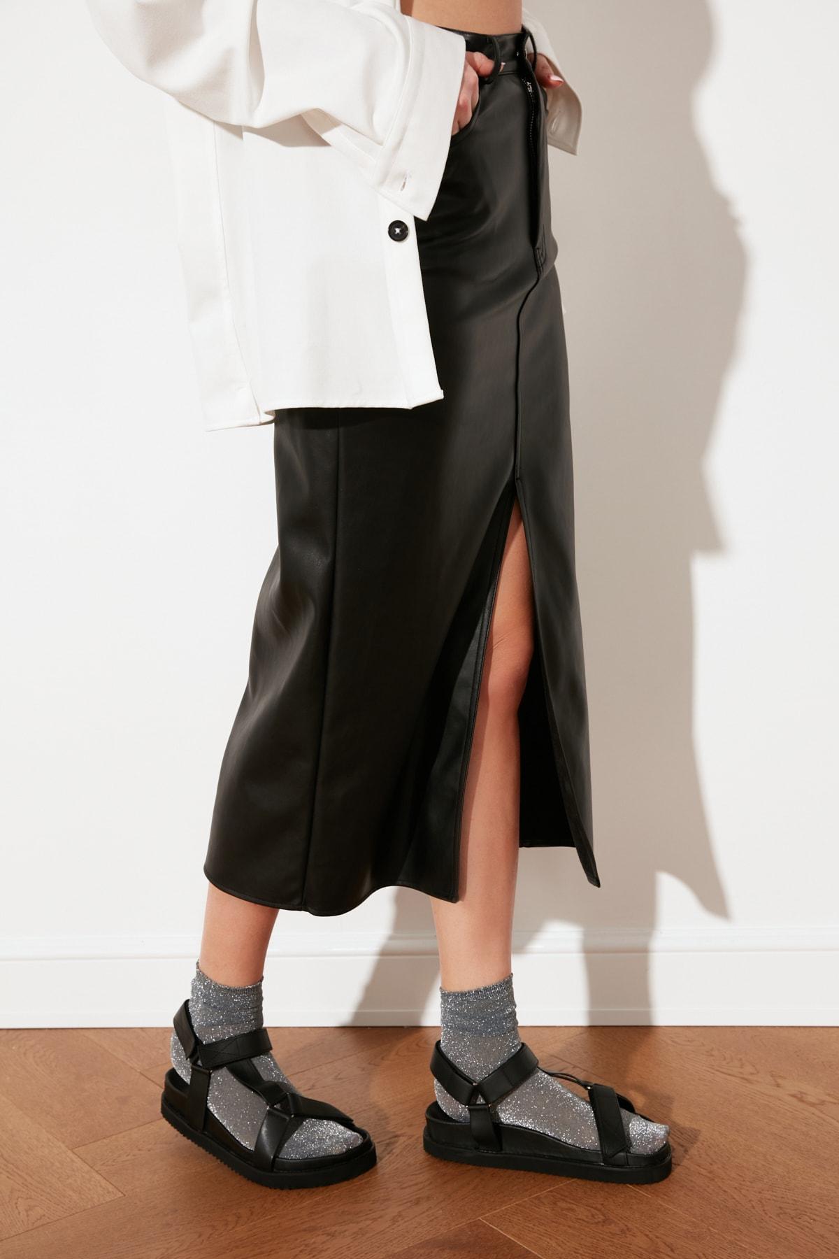 TRENDYOLMİLLA Siyah Kadın Sandalet TAKSS21SD0019 1