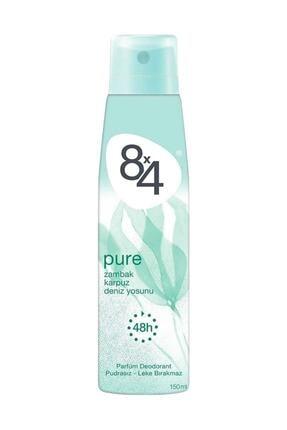 8x4 Pure Sprey Deodorant 150ml Kadın