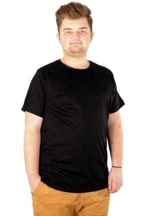 ModeXL Tshirt Bisiklet Yaka Basic 20031 Siyah