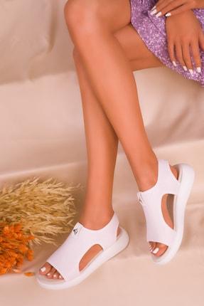 SOHO Beyaz Kadın Sandalet 16136