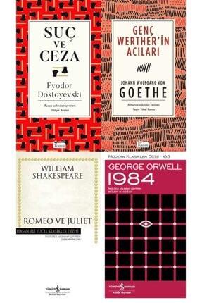 İş Bankası Kültür Yayınları Aaa Evet, Bunları Okumalıyım Seti- Suç Ve Ceza- Genç Werther'in Acıları- Romeo Ve Juliet - 1984